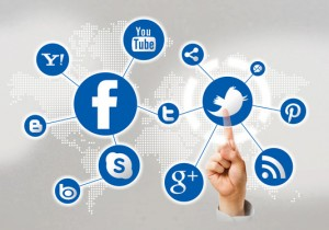 social media icons pointing finger 300x210 Is Social Marketing right for your Business?